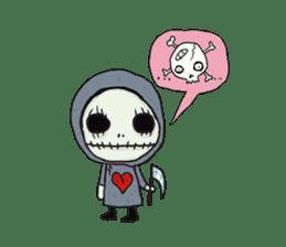 SkullGnome the Cute Grim Reaper sticker #1689588