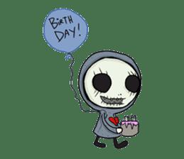 SkullGnome the Cute Grim Reaper sticker #1689589
