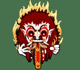 Balinese witch Randa sticker #1690602