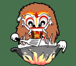 Balinese witch Randa sticker #1690610