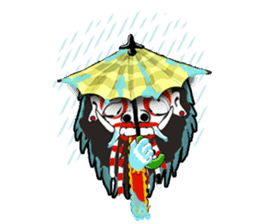 Balinese witch Randa sticker #1690615