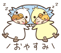Duck-kun and Chick-kun sticker #1694596