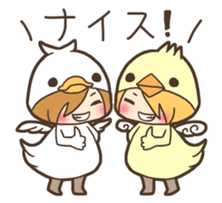 Duck-kun and Chick-kun sticker #1694599