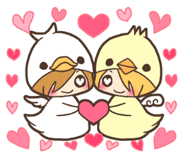 Duck-kun and Chick-kun sticker #1694602