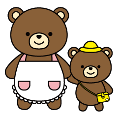 Daily life of the parent and child bear