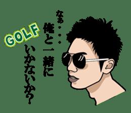 GOLFSticker REALfacevr. GOLFStickerpac sticker #1704862
