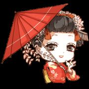 สติ๊กเกอร์ไลน์ Japanese Maiko-han [JPN]