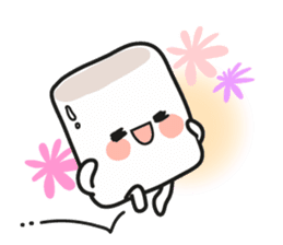 Lowy, the cute little white marshmallow sticker #1712511