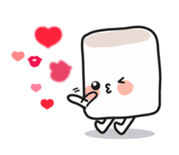 Lowy, the cute little white marshmallow sticker #1712522