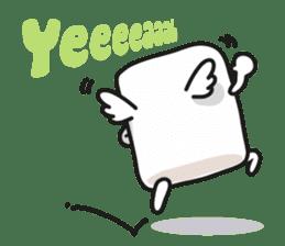 Lowy, the cute little white marshmallow sticker #1712523