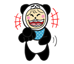 Costume Baby panda sticker #1716885