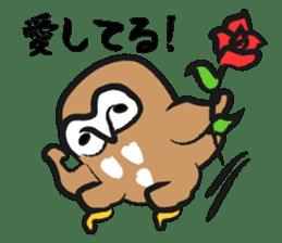 A muscular owl sticker #1720946