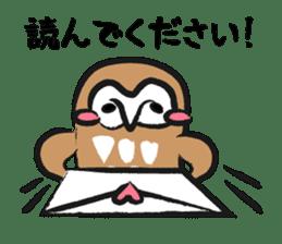 A muscular owl sticker #1720950