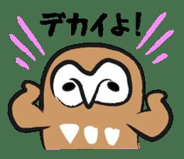 A muscular owl sticker #1720952