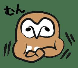 A muscular owl sticker #1720956