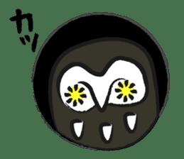 A muscular owl sticker #1720960