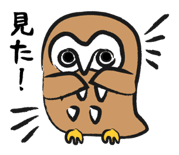 A muscular owl sticker #1720961