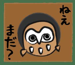 A muscular owl sticker #1720965