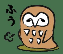 A muscular owl sticker #1720966