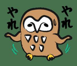A muscular owl sticker #1720977