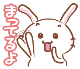 Three talking pretty rabbits sticker #1729928