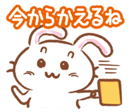 Three talking pretty rabbits sticker #1729934
