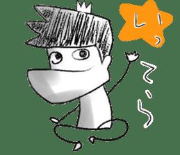 japanese big chin guy sticker #1741667