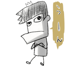japanese big chin guy sticker #1741669