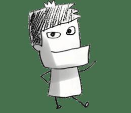 japanese big chin guy sticker #1741670