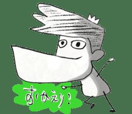japanese big chin guy sticker #1741675