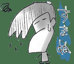 japanese big chin guy sticker #1741684