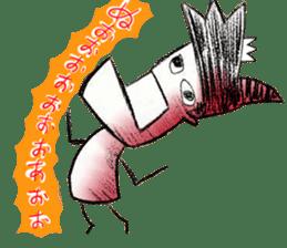 japanese big chin guy sticker #1741704