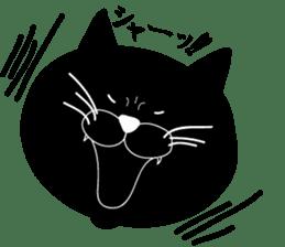 black cat Japanese sticker #1744188
