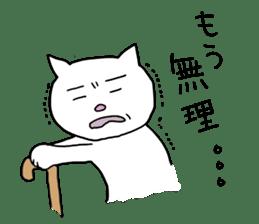 Life of pretty white cat sticker #1744910
