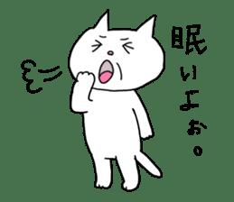 Life of pretty white cat sticker #1744911