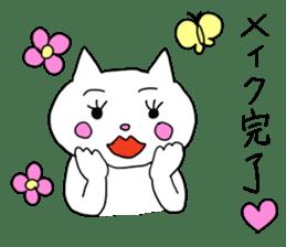 Life of pretty white cat sticker #1744916