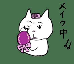 Life of pretty white cat sticker #1744917