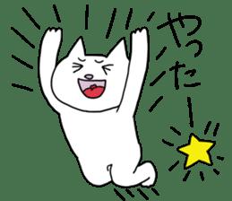 Life of pretty white cat sticker #1744922