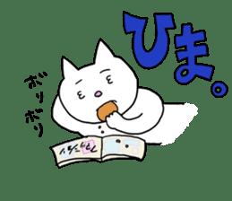 Life of pretty white cat sticker #1744929