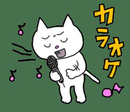 Life of pretty white cat sticker #1744932