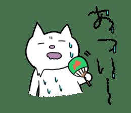 Life of pretty white cat sticker #1744933