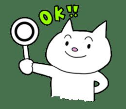 Life of pretty white cat sticker #1744935