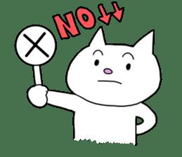 Life of pretty white cat sticker #1744936