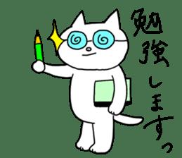 Life of pretty white cat sticker #1744942