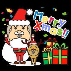 Sticker of Santa Claus