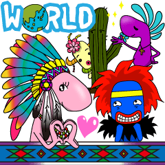 Kokopelli & Kachina friends WORLD ver.