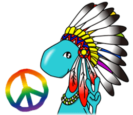 Kokopelli & Kachina friends WORLD ver. sticker #1750706
