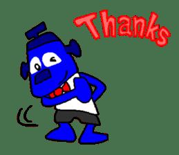 Blue Robot sticker #1768501