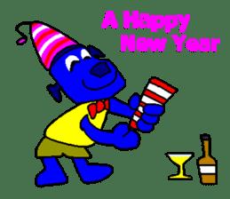 Blue Robot sticker #1768508
