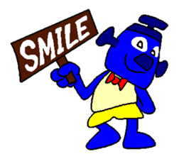 Blue Robot sticker #1768511